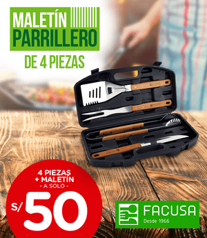Maletín parrillero Facusa - Set x4 piezas