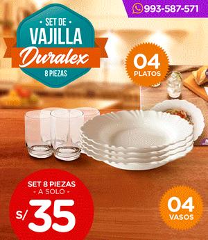 Vajilla Duralex - Set x8 piezas