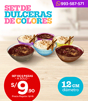 Dulceras de colores - Set x6