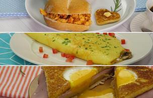 Tres desayunos a base de huevo