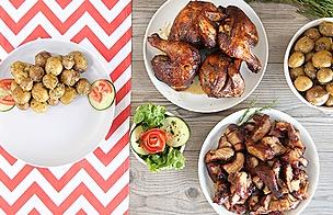Cilindro Peruano: Mixto de chancho y pollo oriental al cilindro
