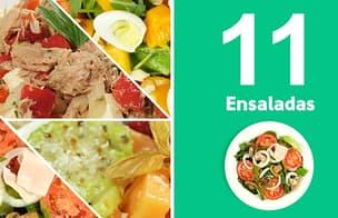 Como hacer 11 ensaladas fáciles, rápidas y deliciosas