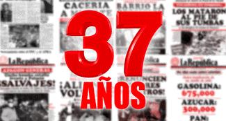 Editorial de La República: 37 años