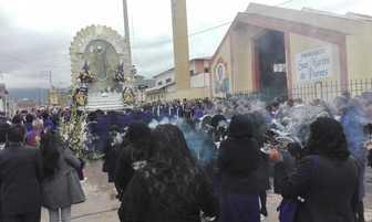 Huancayo: Segundo recorrido del Señor de los Milagros [FOTOS]