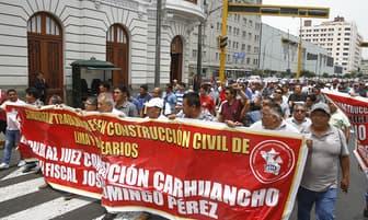 CGTP realizó plantón en respaldo al Juez Carhuancho y Fiscal Domingo Perez [FOTOS]