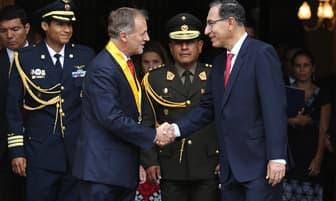 Martín Vizcarra y Jorge Muñoz participaron de la inauguración del aniversario de Lima [FOTOS]