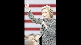Enfática. Candidata demócrata en uno de sus momentos clave de cara a las elecciones