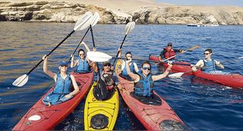 Aventura. Los deportes naúticos son los favoritos en la Reserva Natural de Paracas