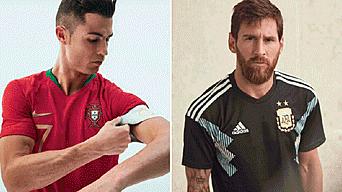906c8fe97baef Cristiano Ronaldo y Lionel Messi fueron la imagen de sus respectivas  camisetas. Créditos  Difusión