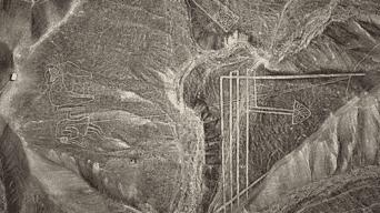 La flecha. Líneas y geoglifos en las mesetas vecinas a la campiña de Palpa, en Ica.