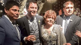 RETRATO. Desde la izquierda, John y Edwin Vergara, la madre Fely Pinto y Fabio Vergara.