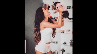 Ivana Yturbe presume su cuerpo en pijama. Foto: Instagram