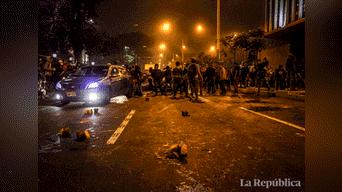 Durante la marcha se desató el enfrentamiento entre la Policía y protestantes Foto: Hanslitt Cruzado