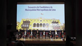 candidatos a la alcaldía de Lima 2018. Foto: Jorge Cerdan