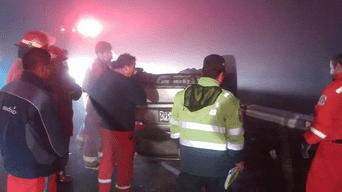 Tacna: Militares salvan de morir en aparatoso accidente en Panamericana Sur