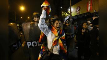 Manifestante grita de rabia contra la Policía. Foto: Michael Ramón.