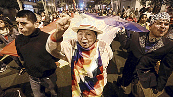 Ciudadanos tomaron principales calles de Lima.