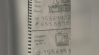 Dibujos creados por el nieto para su abuela  Fuente: Twitter