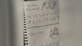 Twitter: abuela no sabe leer ni escribir y su nieto le crea original agenda telefónica