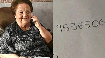 Encarna Alés ama hablar por teléfono, pero no sabe leer, su nieto le creó mecanismo para que lo logre Fuente: @Maria__HG