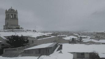 Cusco: nevadas de 50 centímetros de altura han cubierto zonas altoandinas en Espinar