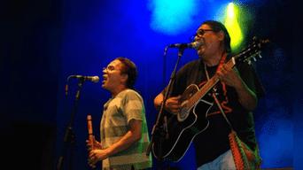 Ricardo Silva y Piero Bustos, integrantes de Del Pueblo y del Barrio. Foto: Captura.