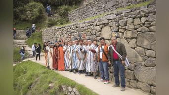 SANTUARIO. La caravana ascenderá al tercer día a Machu Picchu. Foto: Difusión.