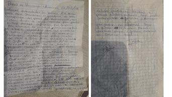 Carta de interno del penal Huamancaca Chico de Huancayo