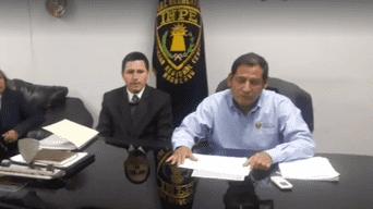Director del INPE José Herrera y el director del penal de Huamancaca Chico de Huancayo, Rolando Cano Carhuallanqui
