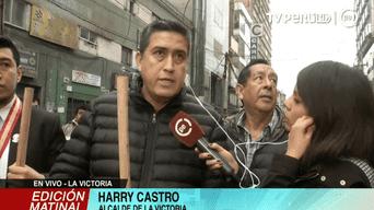 Harry Castro asumió el cargo de alcalde de La Victoria tras la captura de Elías Cuba, su predecesor. Foto: TV Perú