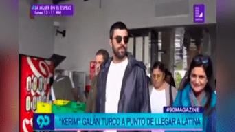 El actor turco Engin Akyürek llegó al canal Latina para grabar unos videos promocionales.