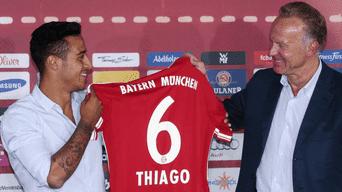 Thiago Alcántara llegó al Bayern Múnich en 2013.