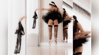 Parece que Mia Khalifa olvidó de calentar antes de realizar su rutina de ballet.(Foto:Instagram)
