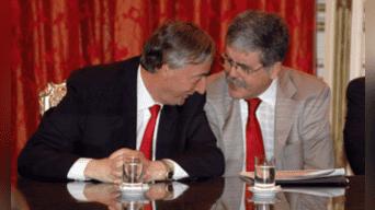 Néstor Kirchner y Julio de Vido, su ministro de Planificación, eran parte de la red de corrupción. Fotografía: Agencias.