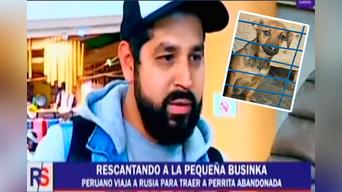 Ricardo Lazo se hizo viral en Facebook por rescatar a una perrita herida en Rusia. Ahora la traerá a Perú. Foto: Latina.pe