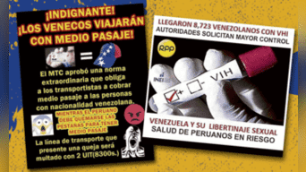Memes absurdos. Nunca se aprobó medio pasaje para ellos. No hay cifras oficiales sobre inmigrantes enfermos de VIH. Composición gráfica.