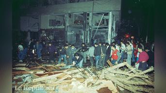"""""""El acto"""": El 16 de julio de 1992, en la segunda cuadra de la calle Tarata de Miraflores, un auto que llevaba 400 kilos de dinamita combinada con anfo explosionó al promediar las 9:20 p.m. Foto: Archivo"""