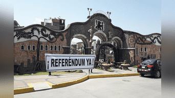En Huancayo también piden aprobación de referéndum.