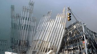 Así quedaron las Torres Gemelas tras el impacto de los 4 aviones suicidas.