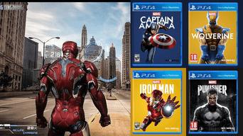 Ps4 Marvel Iron Man Crean Arte Para Eventual Videojuego Similar A