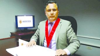 Fiscal Superior José Carretero sustentó acusación contra exjuez de paz letrado