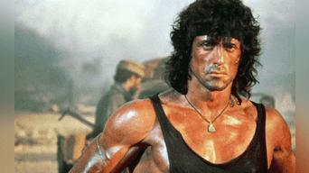 Sylvester Stallone como Rambo, en los años 80.