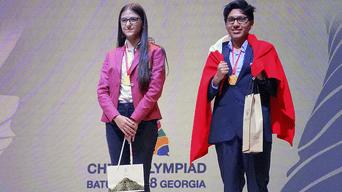 Jorge Cori obtuvo la medalla de oro en la Olimpiada Mundial de Ajedrez Batumi 2018