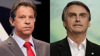 Fernando Haddad y Jair Bolsonaro son los candidatos con mayor aceptación.