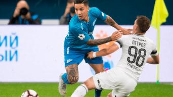Zenit derrotó por 2-1 a Krasnodar por la fecha 10 de la Premier League de Rusia.