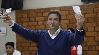 Renzo Reggiardo votó en la Universidad Agraria