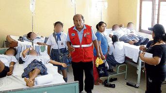 Un caso. Escolares intoxicados en Cañete, en julio último.