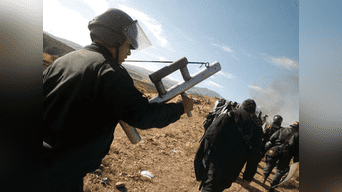 Invasores también contaban con armas
