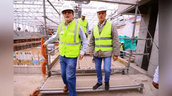 Jorge Muñoz y Carlos Neuhaus recorrieron las construcciones donde se realizará los Juegos Panamericanos 2019. Foto: Aldair Mejia