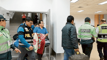 Seis detenidos en Tarapoto. Fueron trasladados a Lima el jueves en la noche.